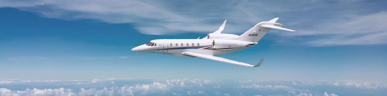 Helidosa Citation X 1010 Plane in the Sky