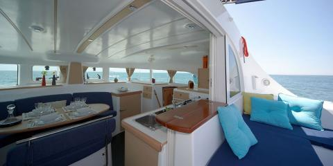 Moorings 380 interior and exterior