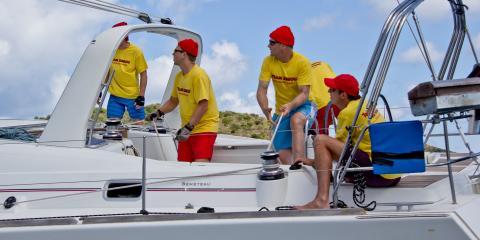 Crew sailing on the sea