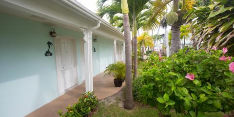 Outside rooms of Conch Inn
