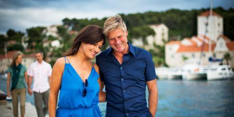 Couple embracing in Croatia