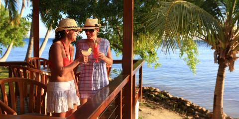 Women drinking in Belize