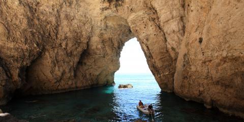 Corfu sea cave