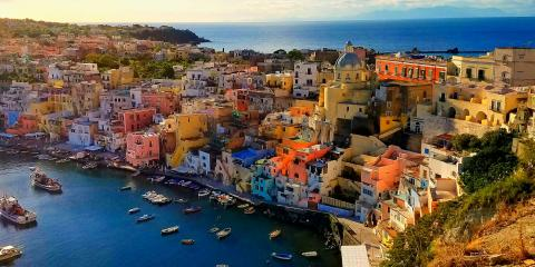 Colorful homes of Procida Island