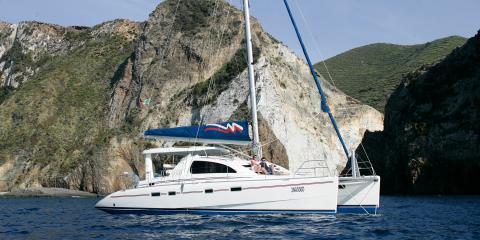 Moorings yacht sailing in Procida