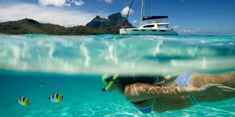 snorkeling in Tahiti
