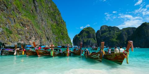 Boats on Thailand beach