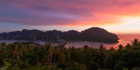 Beach sunset in Phuket, Thailand