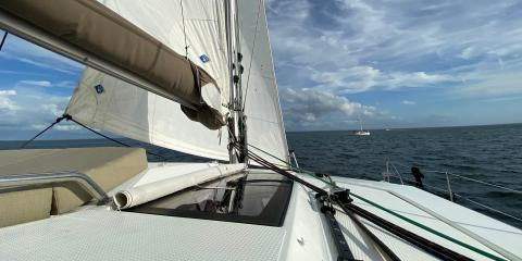 Sailing St. Petersburg Florida on a Fountaine Pajot Helia