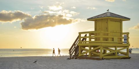 Siesta Key Lifeguard Hut at Sunset Florida - Image credit: Visit Sarasota