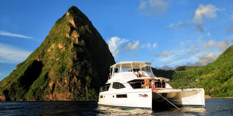 Sailing in the waters of St Lucia