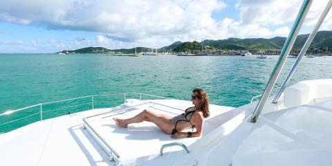 woman sunbathing on deck