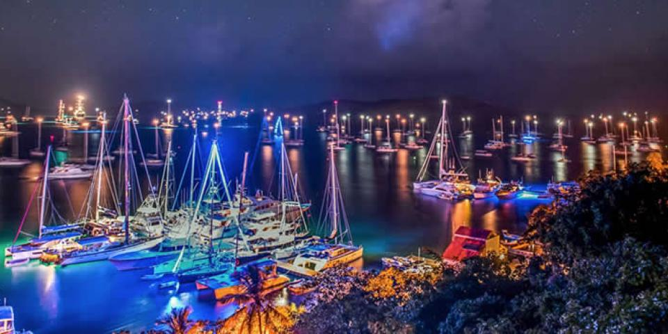 Christmas Lights in the British Virgin Islands