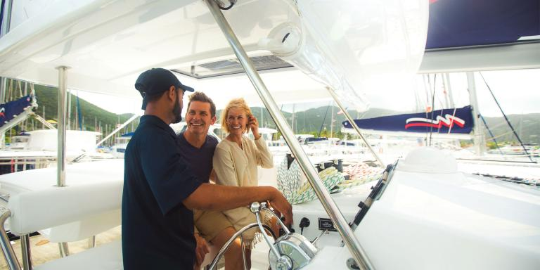 Learning to sail in the British Virgin Islands