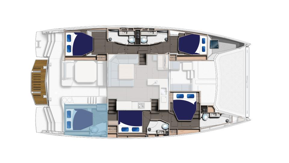 Moorings Crewed 5000 Layout