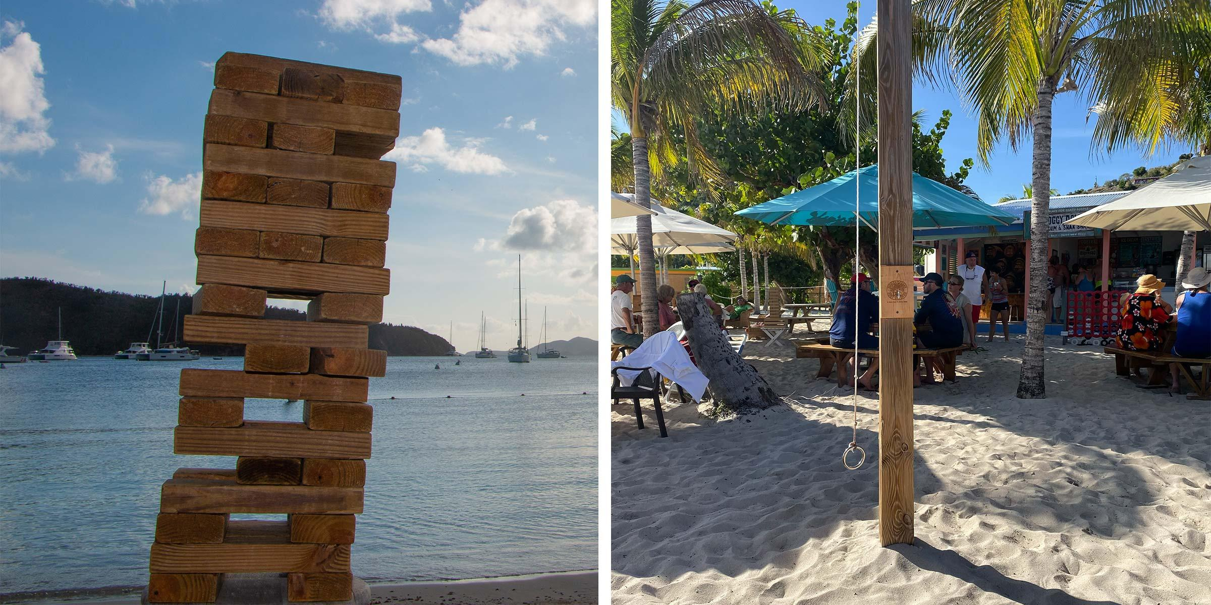 BVI beach bar games