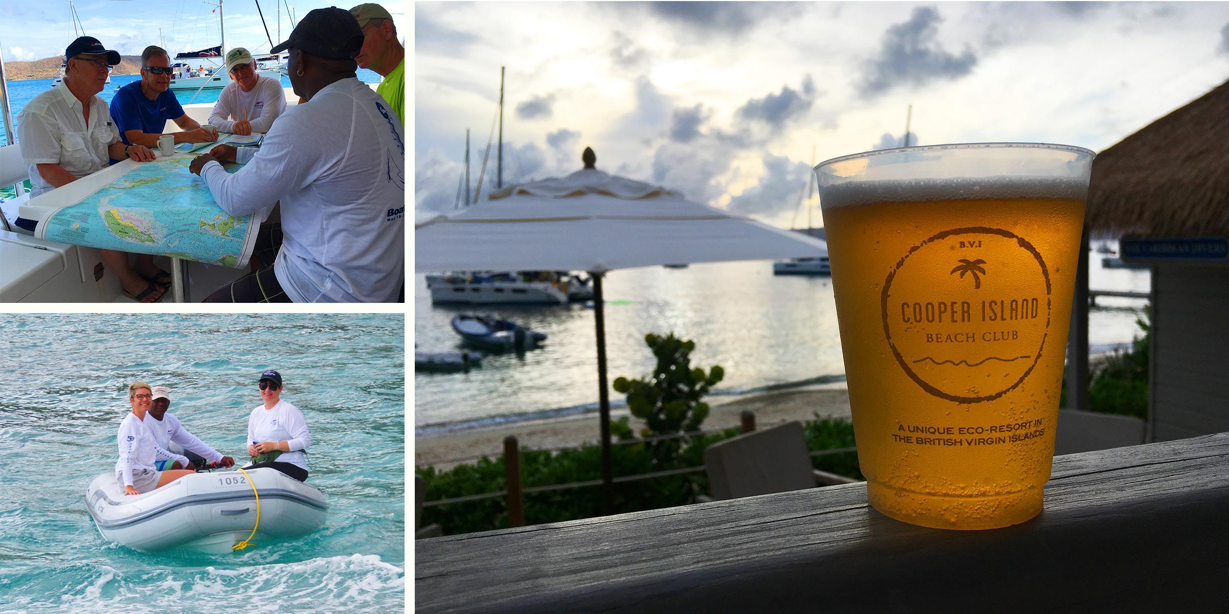 BoatU.S. Flotilla 2019 Crew at Cooper Island Beach Club