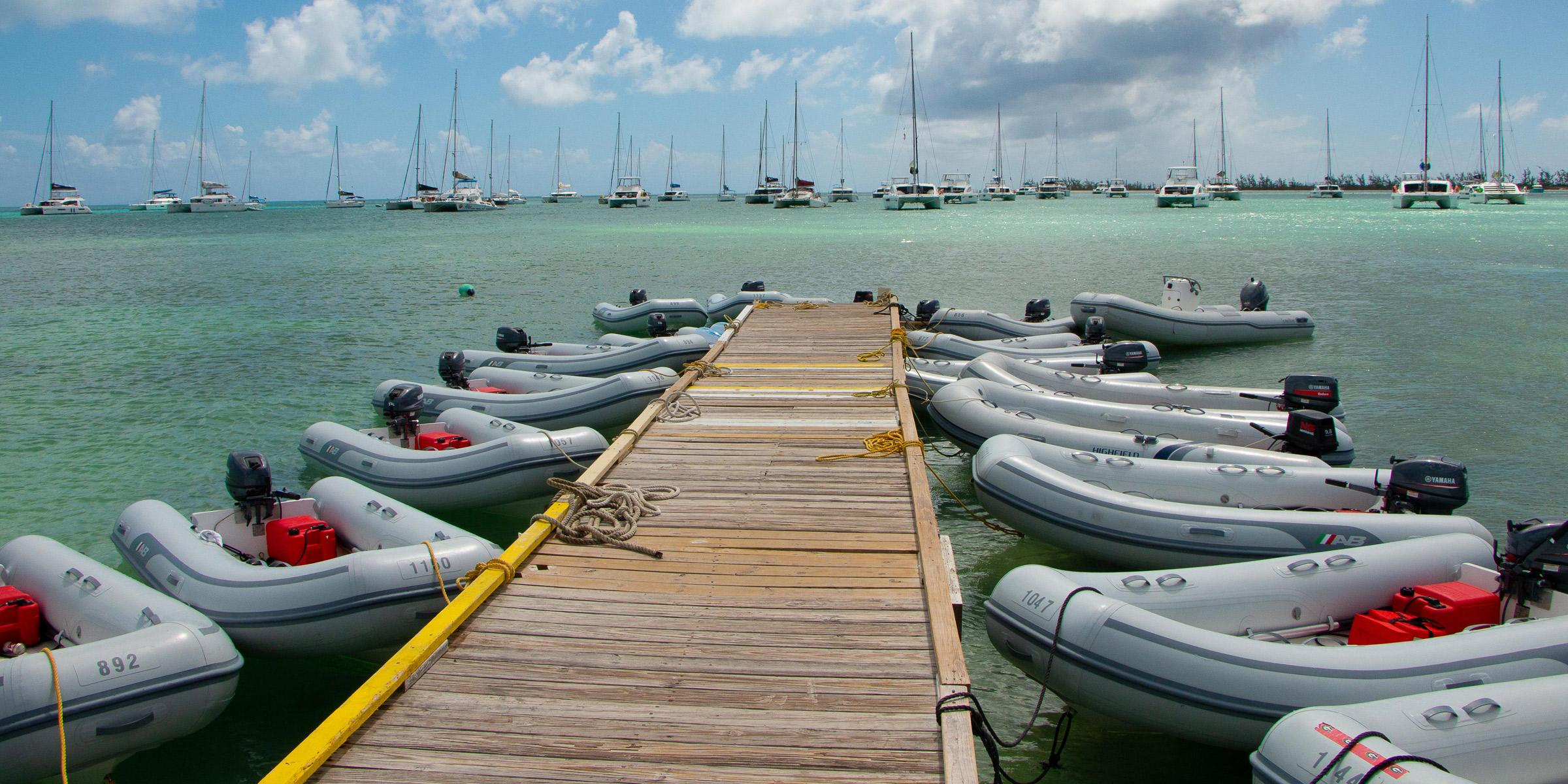 Dinghy Dock Potters By The Sea Anegada BVI