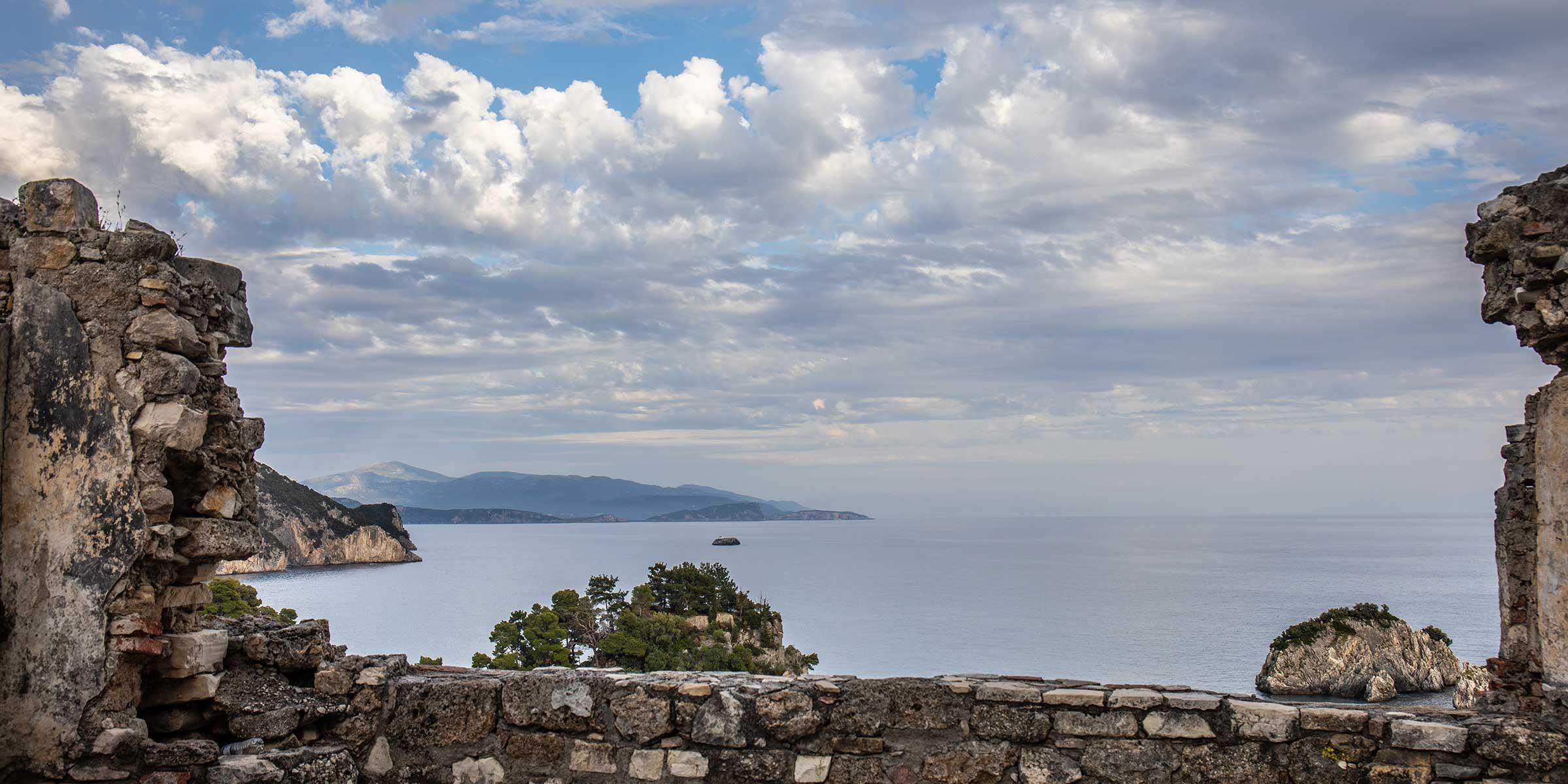 View from castle in Corfu, Greece