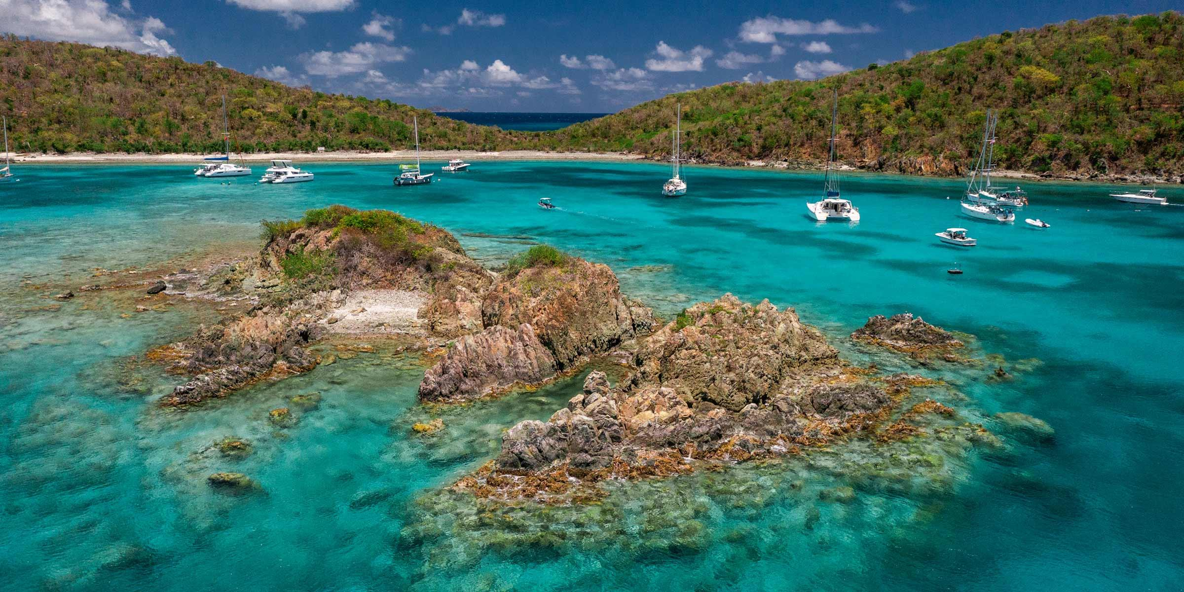 Christmas Cove at Great St. James in the USVI