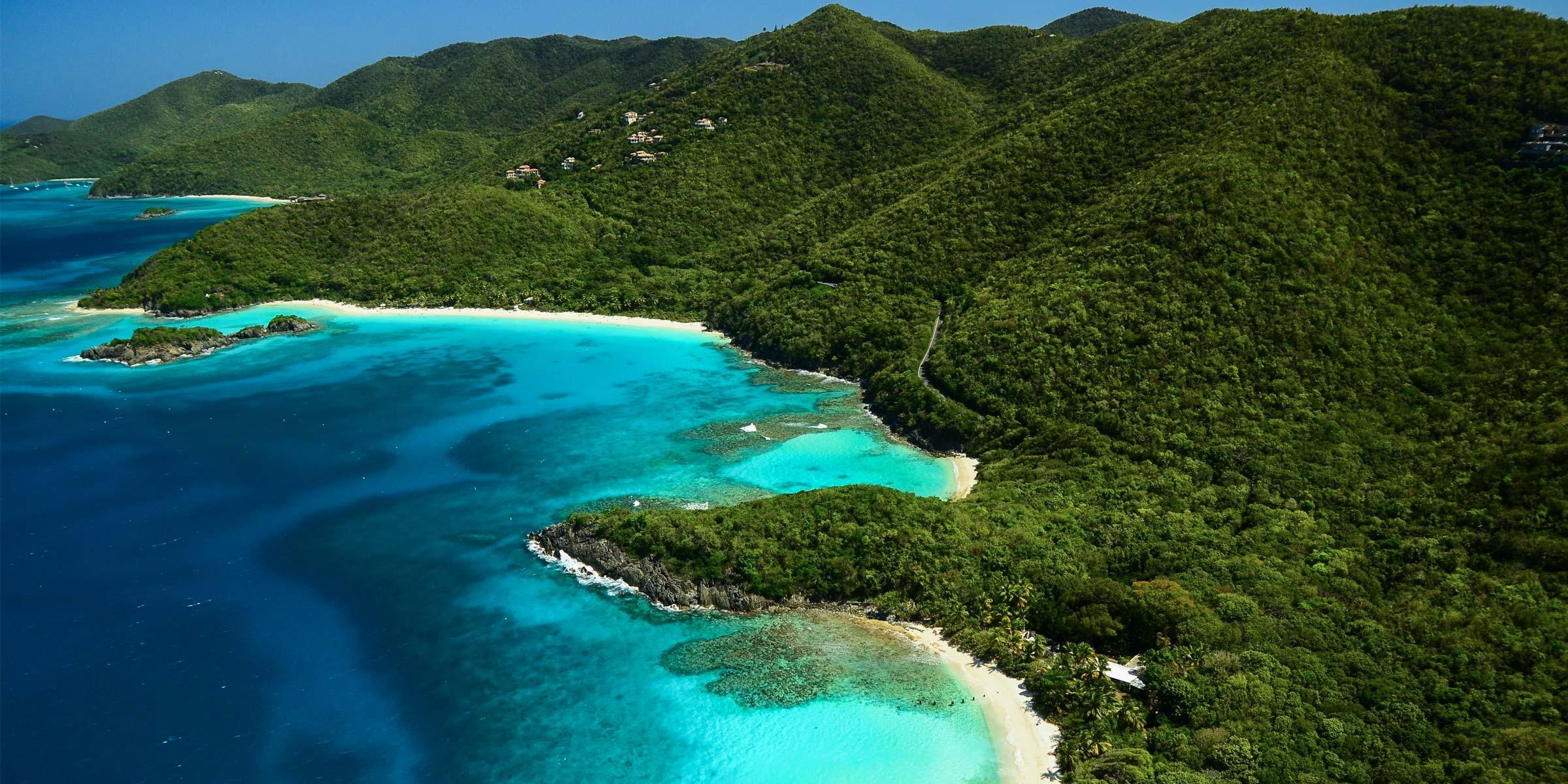 Denis Bay and Trunk Bay on St. John, U.S. Virgin Islands