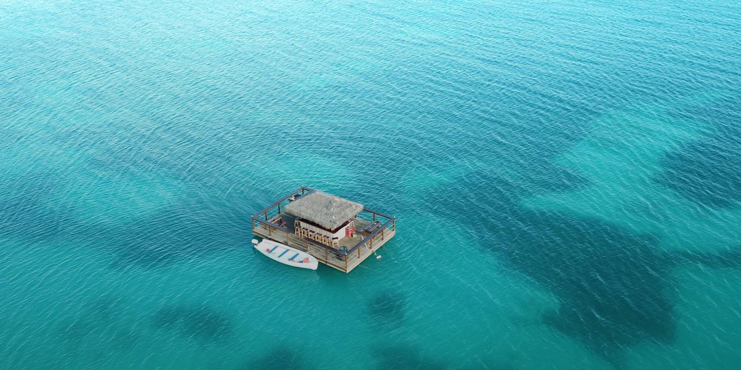Floating Bar in Antigua - Image Credit Kon Tiki Bar and Grill Antigua