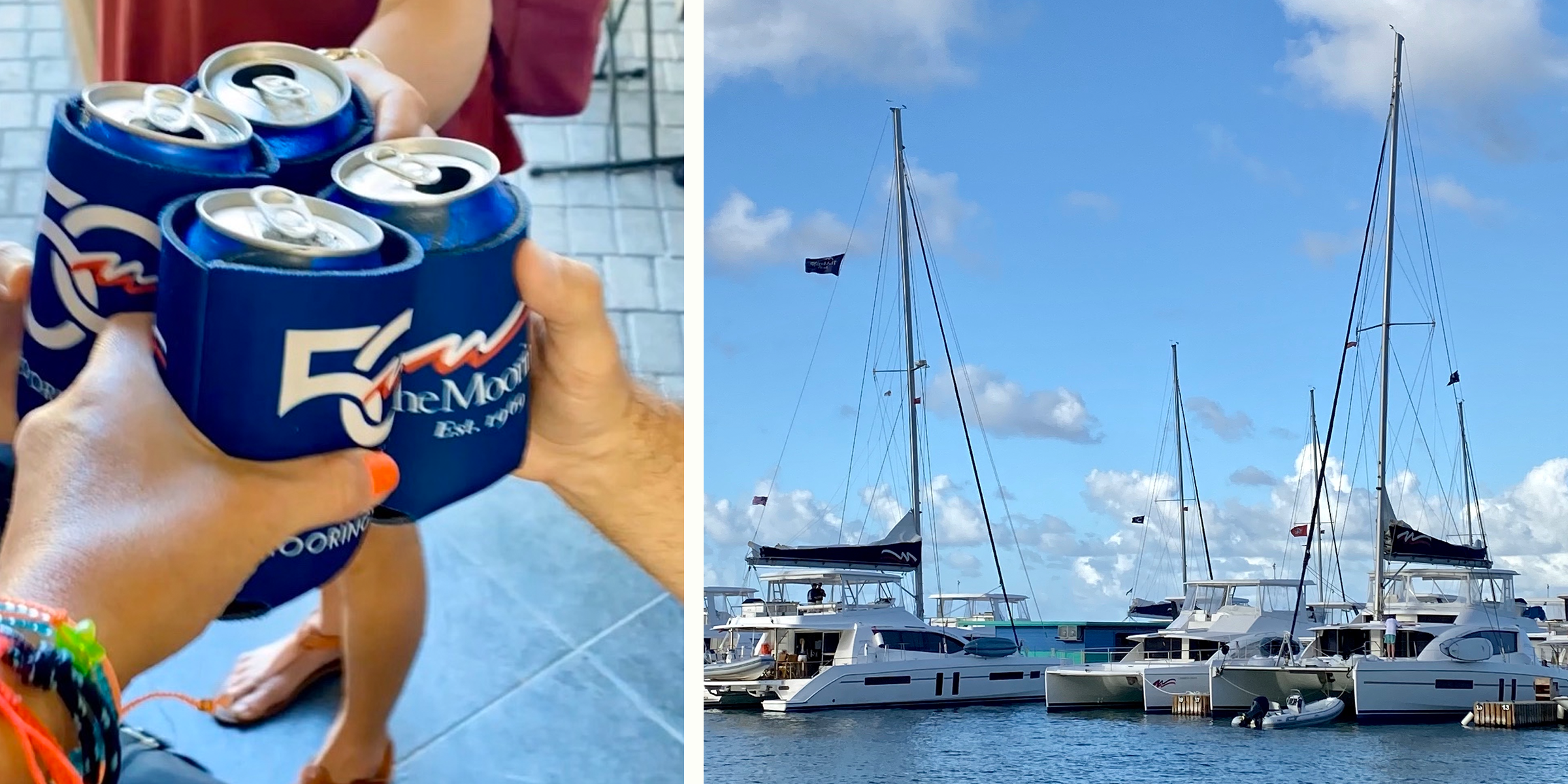 Friends Cheers on BVI Yacht Charter Vacation