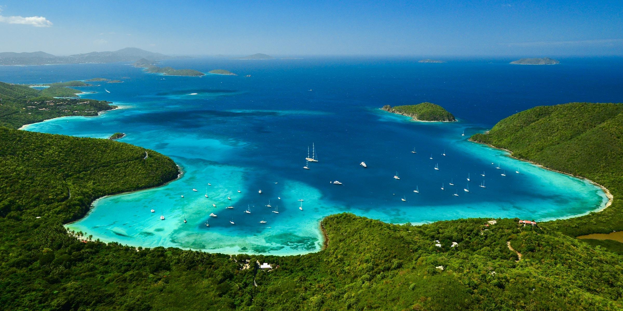 Maho Bay on St. John, U.S. Virgin Islands