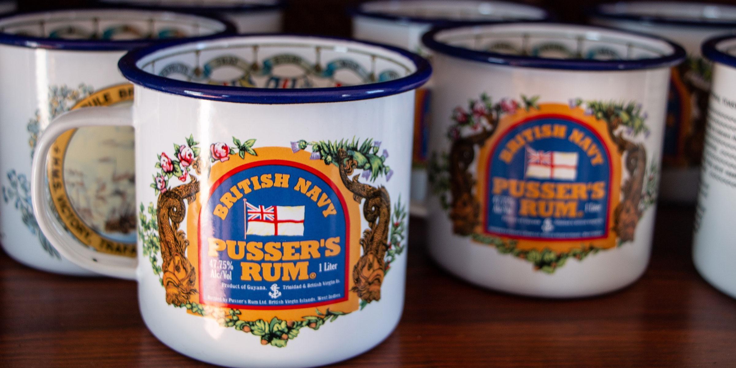 Pusser's Rum cups