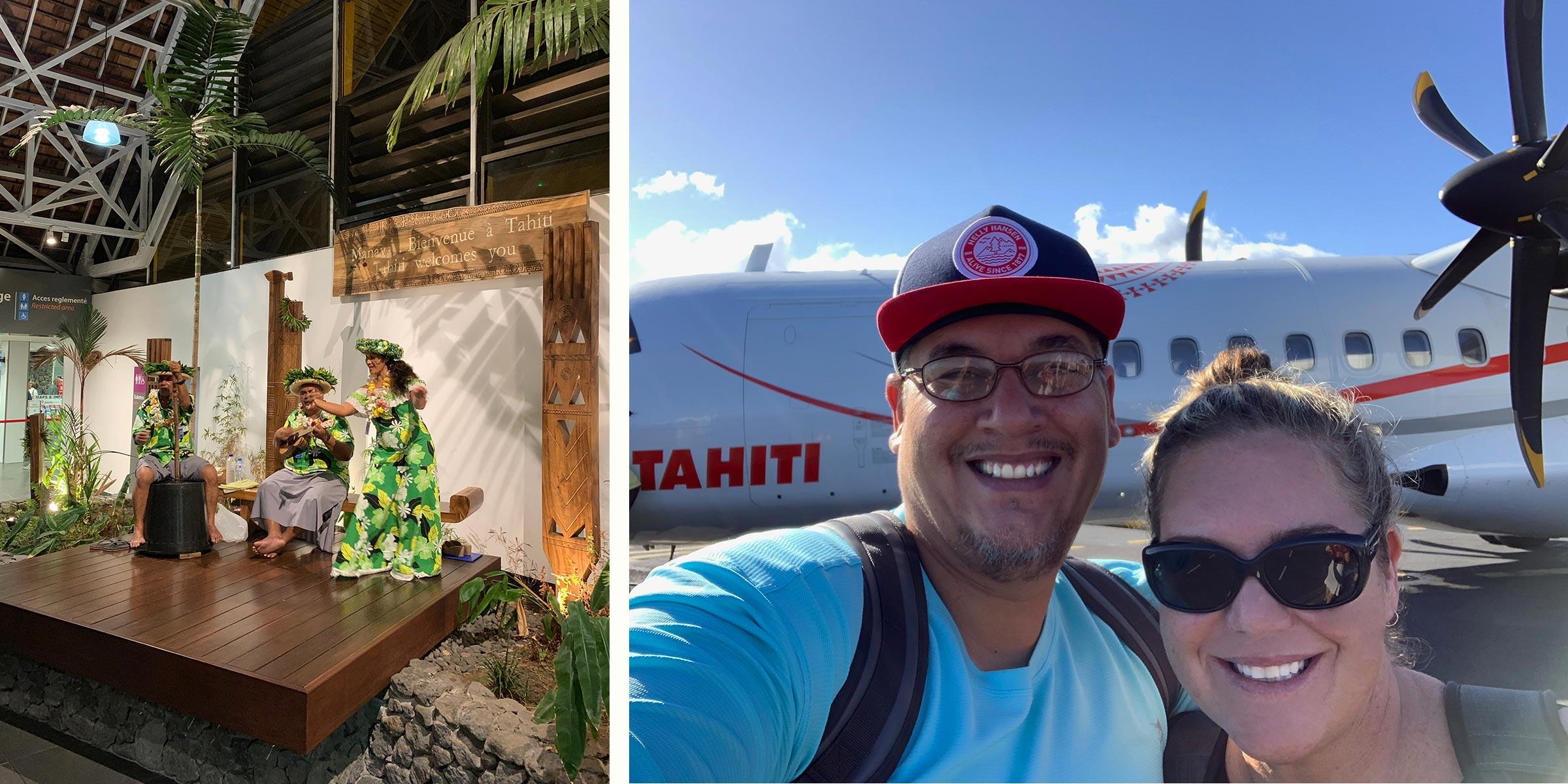 Tahiti Charter Airport Arrival
