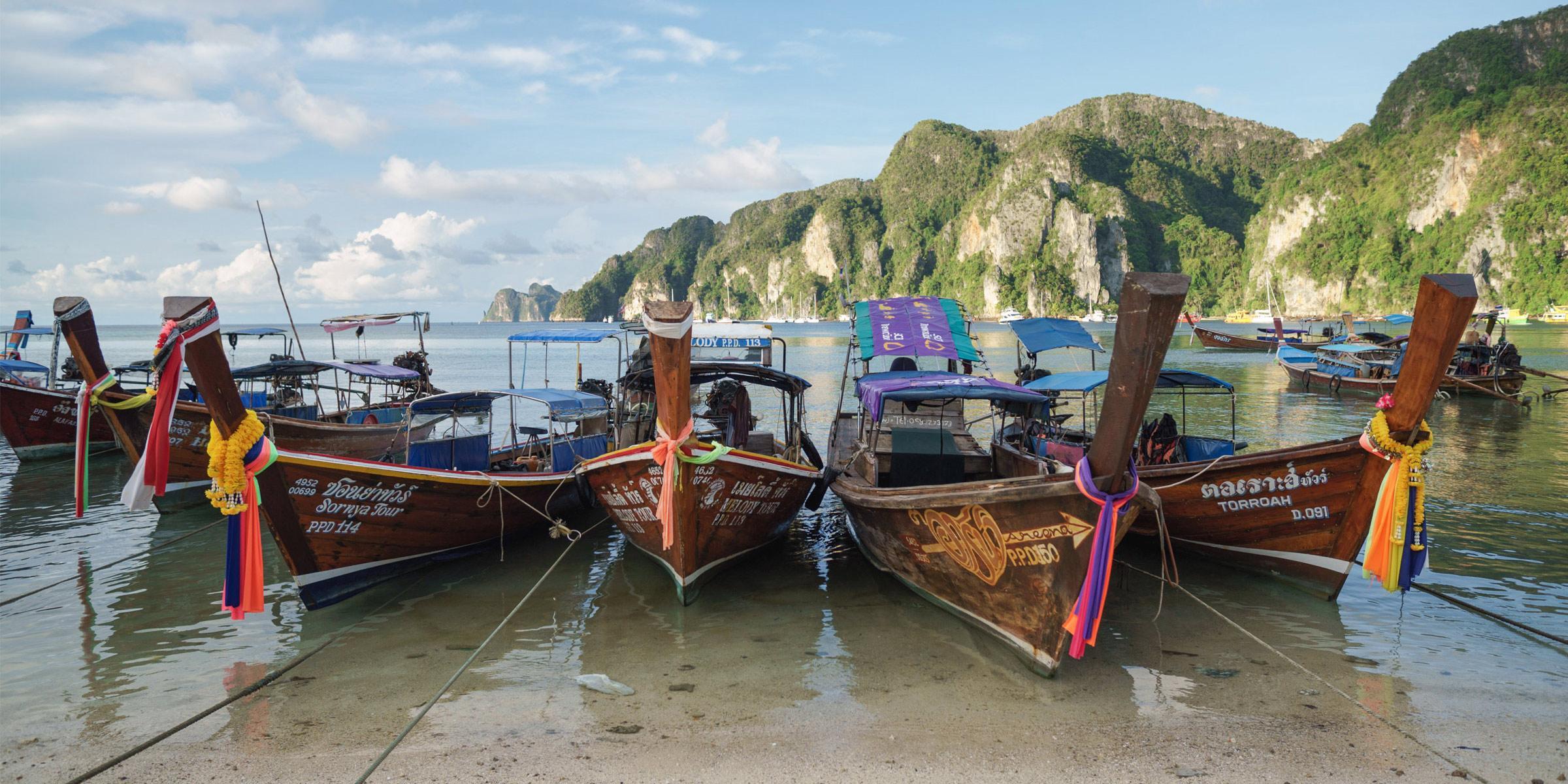 Longtail Boats in Phuket Thailand