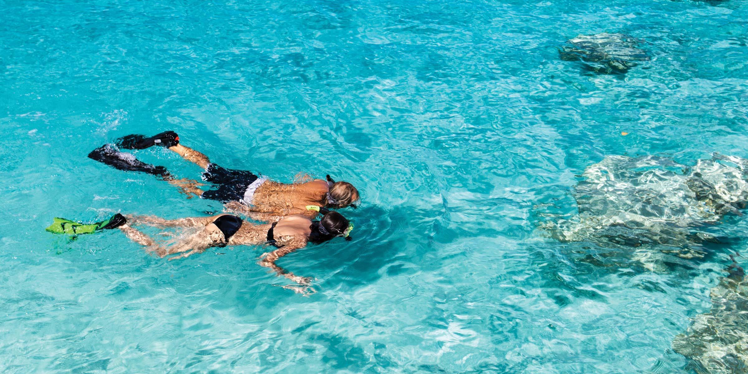 Couple snorkeling on St. John, U.S. Virgin Islands