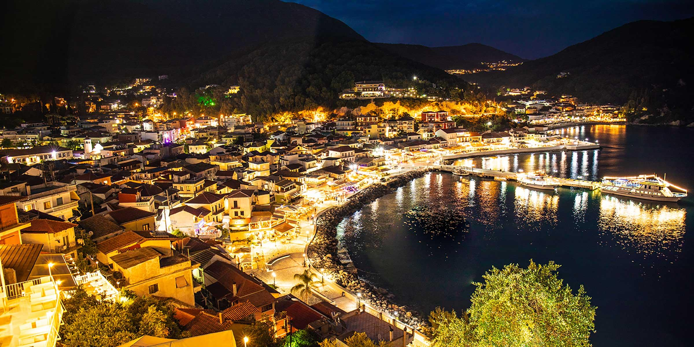 View of Corfu in Greece at Night
